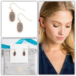 Kendra Scott Lee Rose Gold Drop Earrings